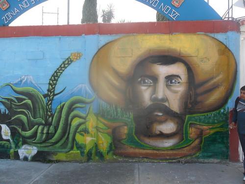 Mural esc prim emiliano zapata por chuzka y seda for Emiliano zapata mural