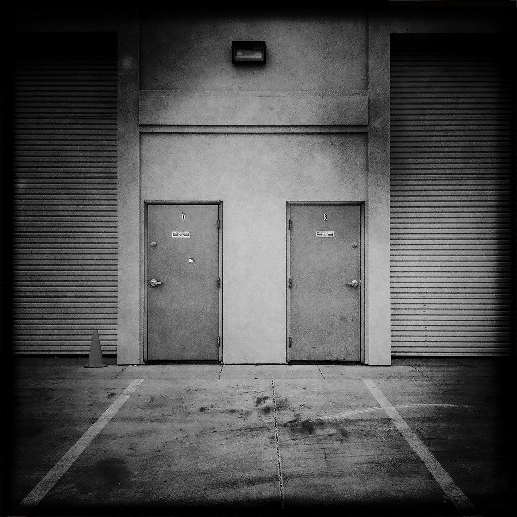 Warehouse Doors & Exterior Of A Commercial Warehouse With