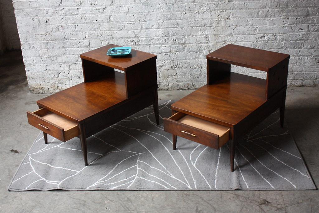 ... Handsome Broyhill Saga Mid Century Modern End Tables (Mint, 1960u0027s) |  By Kennyk