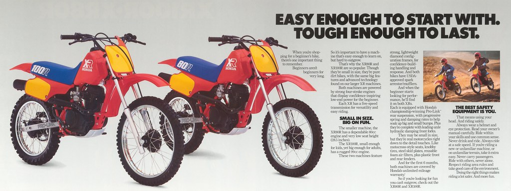 1986 xr80 and xr100 brochure inside 1986 honda xr80 and xr flickr rh flickr com 1983 Honda XR 80 1988 Honda XR 80