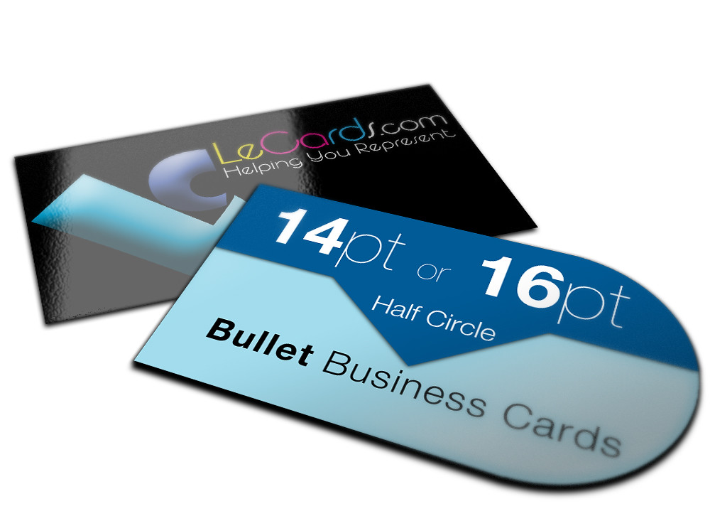 Half Circle (Bullet) Business Card | Circle business card an… | Flickr