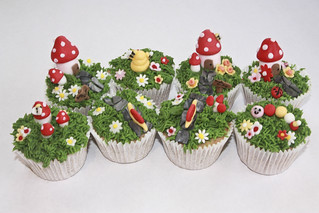Magical Garden cupcakes | by Liz Simmons