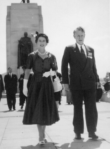 Sir Walter Jackson Cooper and Queen Elizabeth II | by State Library of Queensland, Australia