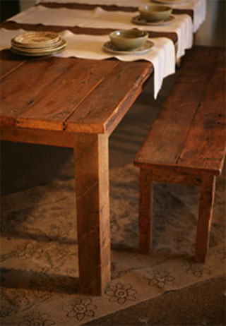 Reclaimed Antique Pine Dining Table And Benches Our Farmho Flickr - Reclaimed pine dining table