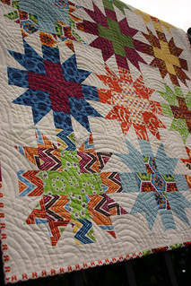 Star Crossed Stitch quilt - unwashed detail #2 | by Don't Call Me Betsy