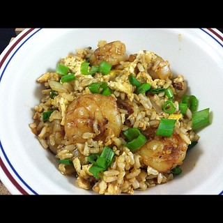 (Photo a Day) Healthy shrimp fried rice for dinner! | by colleengreene