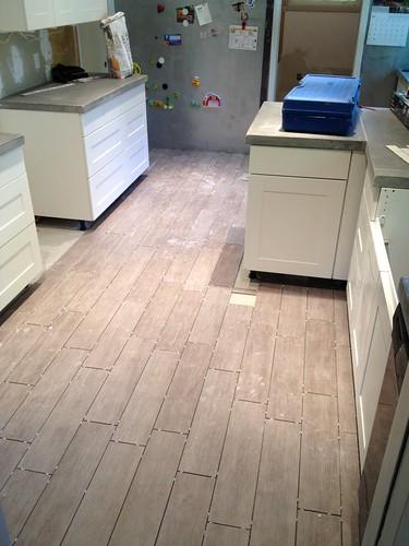 Laying Tile Kitchen Island Countertop