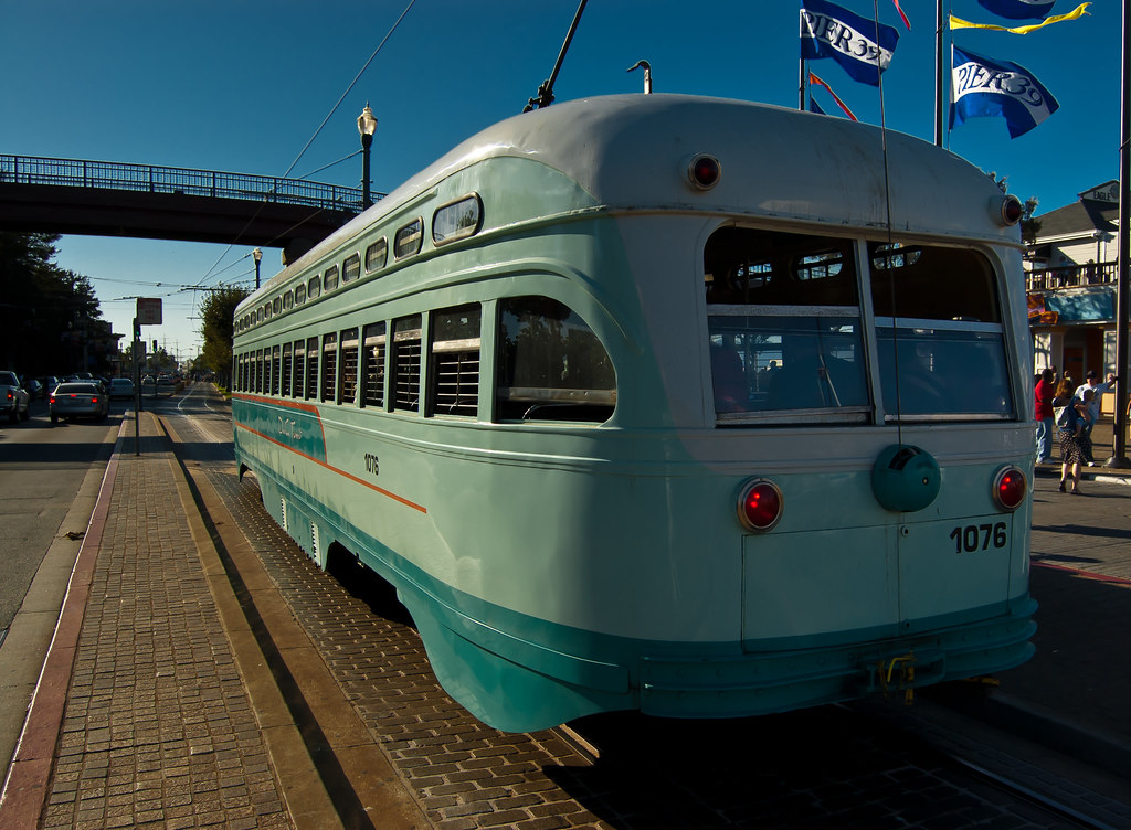 USA / California / San-Francisco / Blue Tram 02