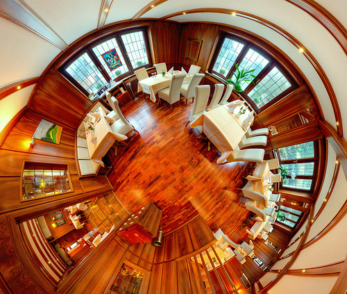 Restaurant stereographic 360° Panorama smaller crop (HDR) | by spechtl