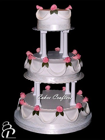 wedding cake tiers pillars wedding cake with pillars three tiers 14 quot 10 quot 6 quot wedding 26269