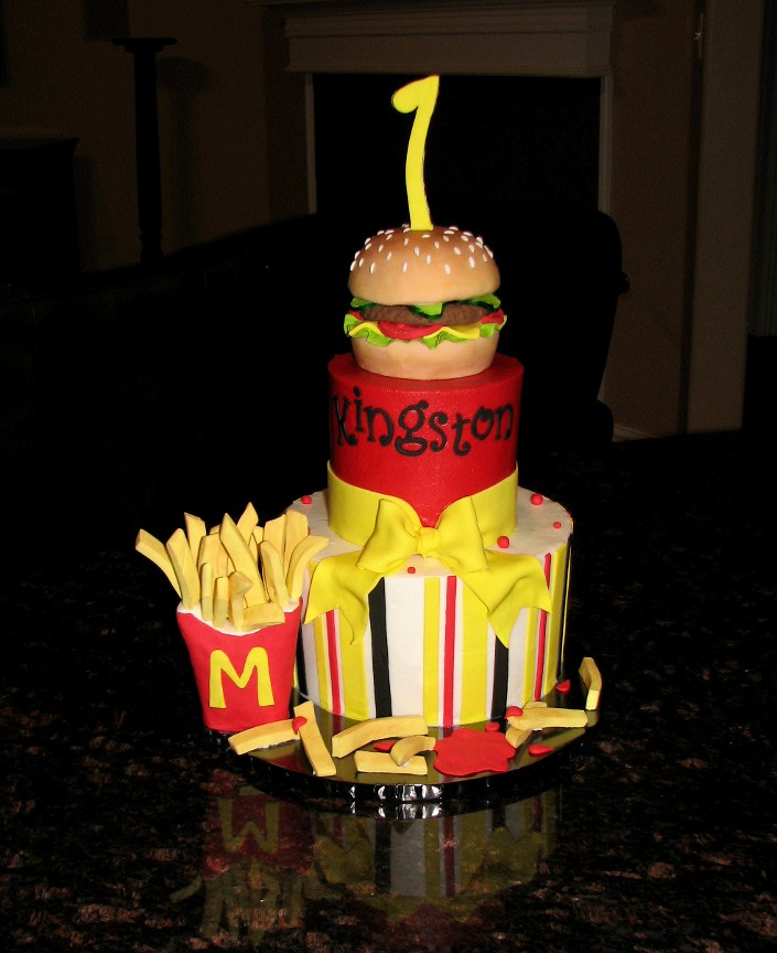 Cheeseburger And French Fry Cake Loved Making This Cake Flickr