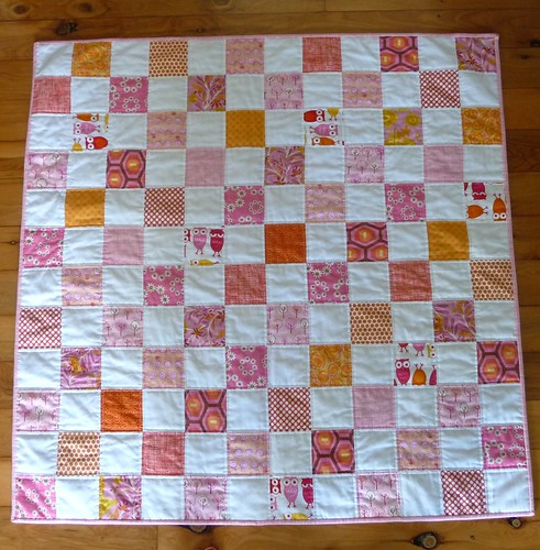 Pink and orange baby quilt | by M@rg sunshineparadise