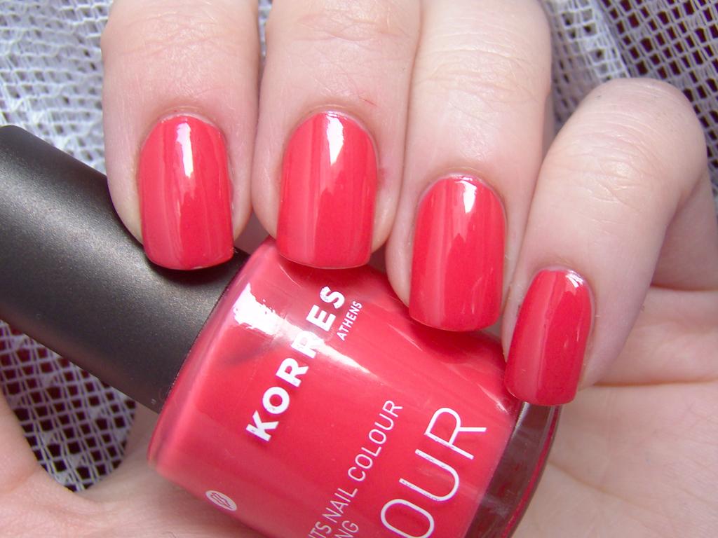 Korres Coral Pink   2 coats, natural light   milk_lizard   Flickr