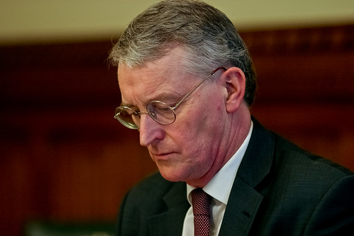 Hilary Benn MP listens | by Aegis Trust