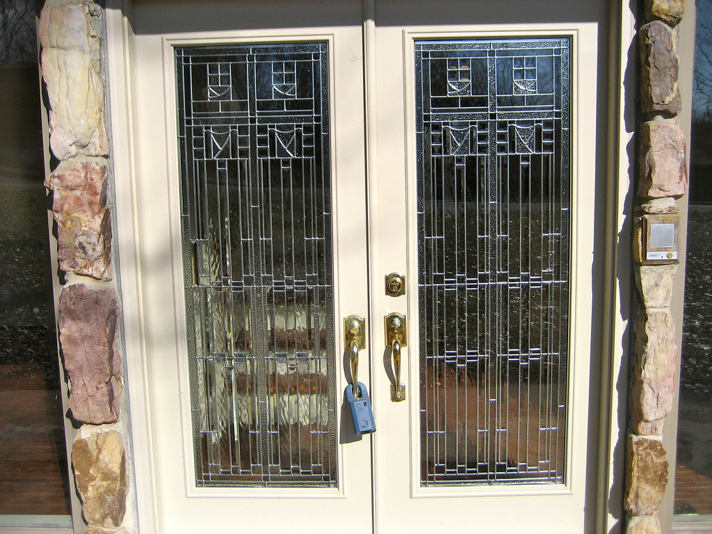 Double Leaded Glass Front Doors The Double Doors In The Fr Flickr