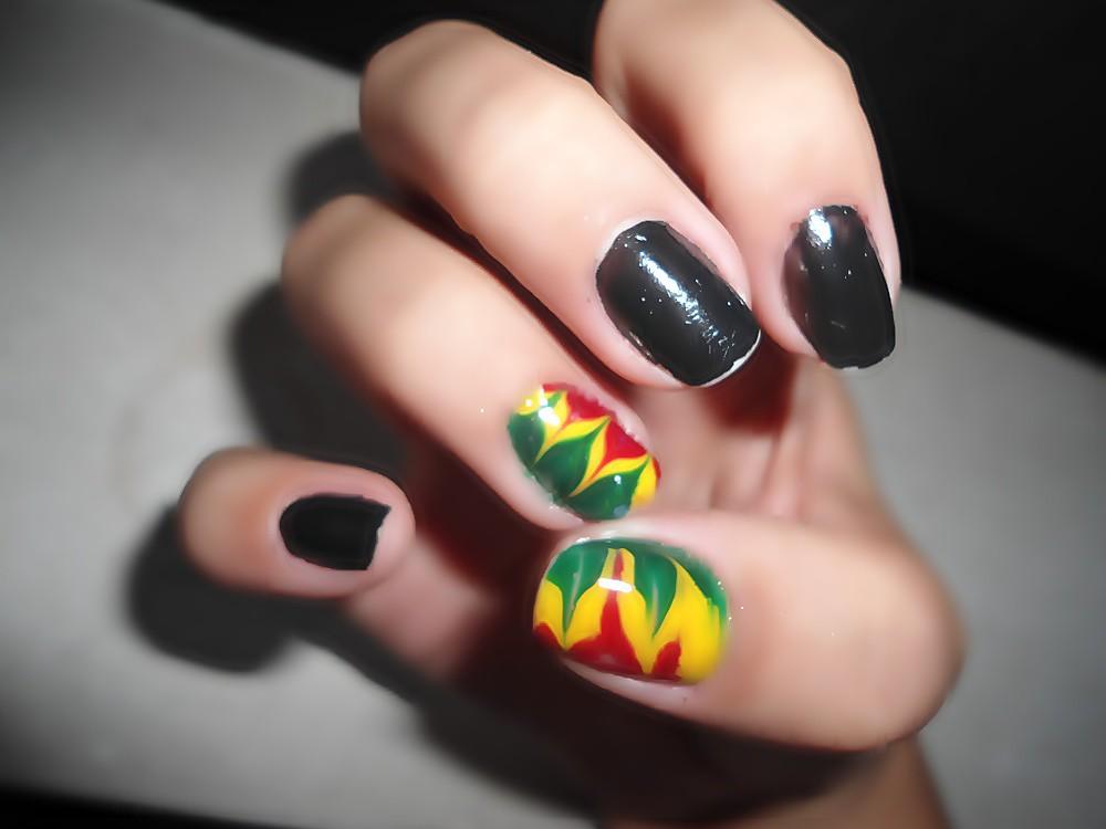 Nail Art Reggae Ana Carolina Ermetici Flickr