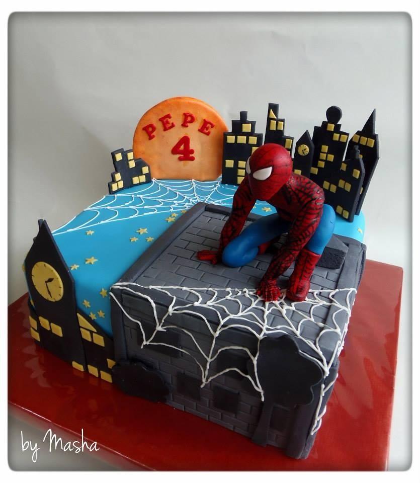 Magnificent Spiderman Birthday Cake Sweet Cakes By Masha Flickr Funny Birthday Cards Online Alyptdamsfinfo