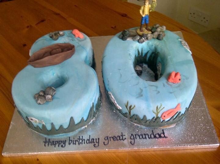 Fishing themed cake gone fishing themed birthday cake for Flickr