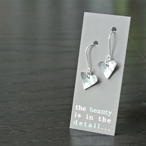 heart earrings | moo card | by the beauty is in the detail . . .