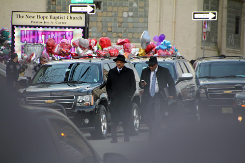 Rev. Jesse Jackson leaving Whitney Houston funeral | by Explorations Media, LLC