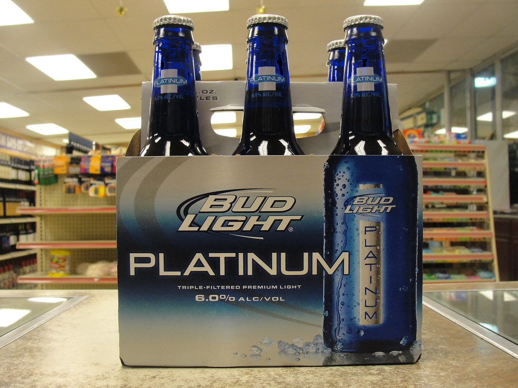a by canned bud beer vol and oz wi b alc alumbottles aluminum beercans brewed st fl light bottles platinum