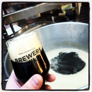 Drinking a Back in Black as the boil gets ready | by Elizabeth Street Brewery