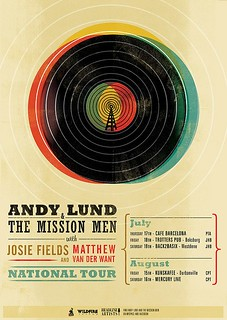 Andy Lund Tour Poster by Adam the Velcro Suit | by nahuelsotelo