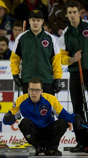 Napanee, ON Feb 12 2011 M&M Canadian Juniors Team AB Brendan Bottcher. Team NO Skip Brennan Wark & third Kristofer Leupen . Michael Burns Photo Ltd. | by seasonofchampions
