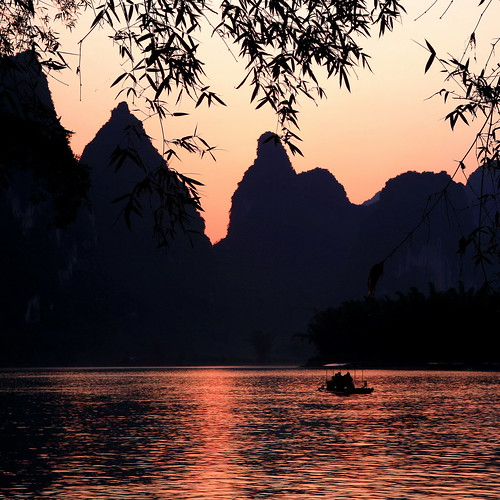 Sunset @ Li River | by xiaomeisun (take a break from Flick from now)