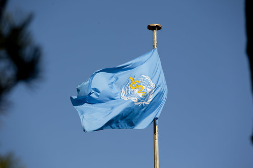 World Health Organization Headquarters and Flag | by US Mission Geneva