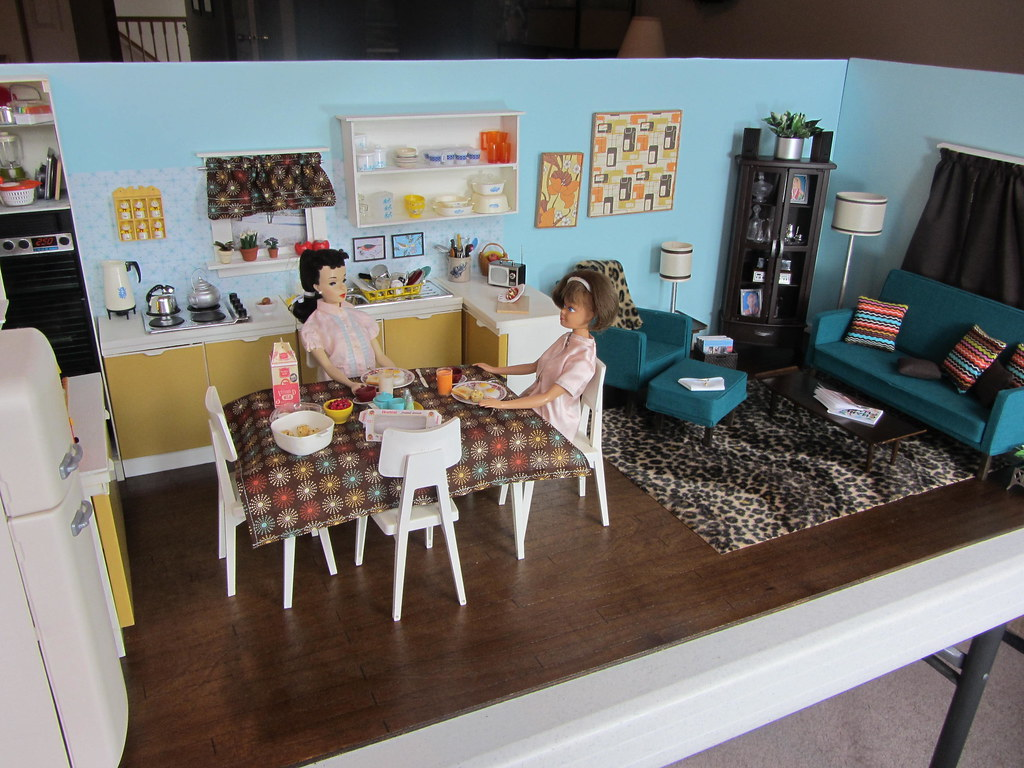 completed kitchen u0026 living room diorama it is done this u2026 flickr