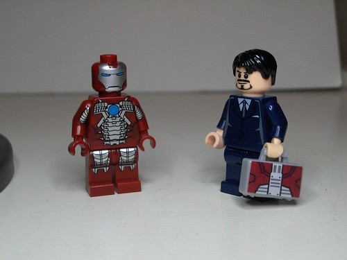 Tony Stark with Mark V suit and suitcase | by ryffranck029