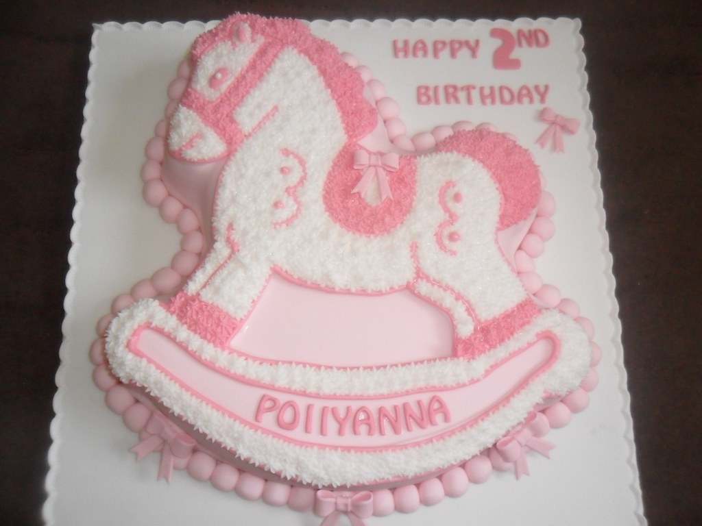 Pink White Rocking Horse Birthday Cake Elizabeth Flickr
