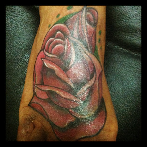 Tattooink Roserosebudfootcolordarkskin Last Tatto Flickr