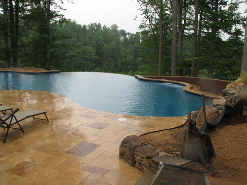 Custom Concrete Infinity Edge Swimming Pool By Augusta Aqu Flickr