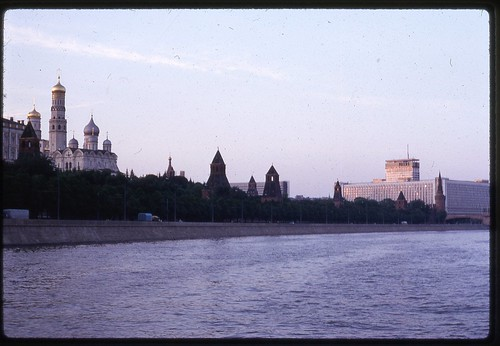 Kremlin and Rossija Hotel at Sunset, Moscow, 1969 | by Rob Ketcherside