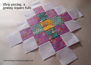 strip piecing a granny square tute | by ImAGingerMonkey
