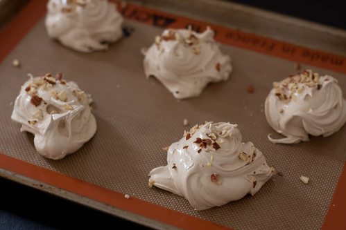 giant espresso-hazelnut meringues | by liminaldreams
