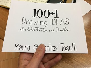 "Inspecting the ""100+1 Drawing Ideas"" final proof print 
