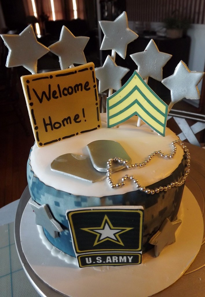 ... Army Welcome Home Cake | By JCCupcakes