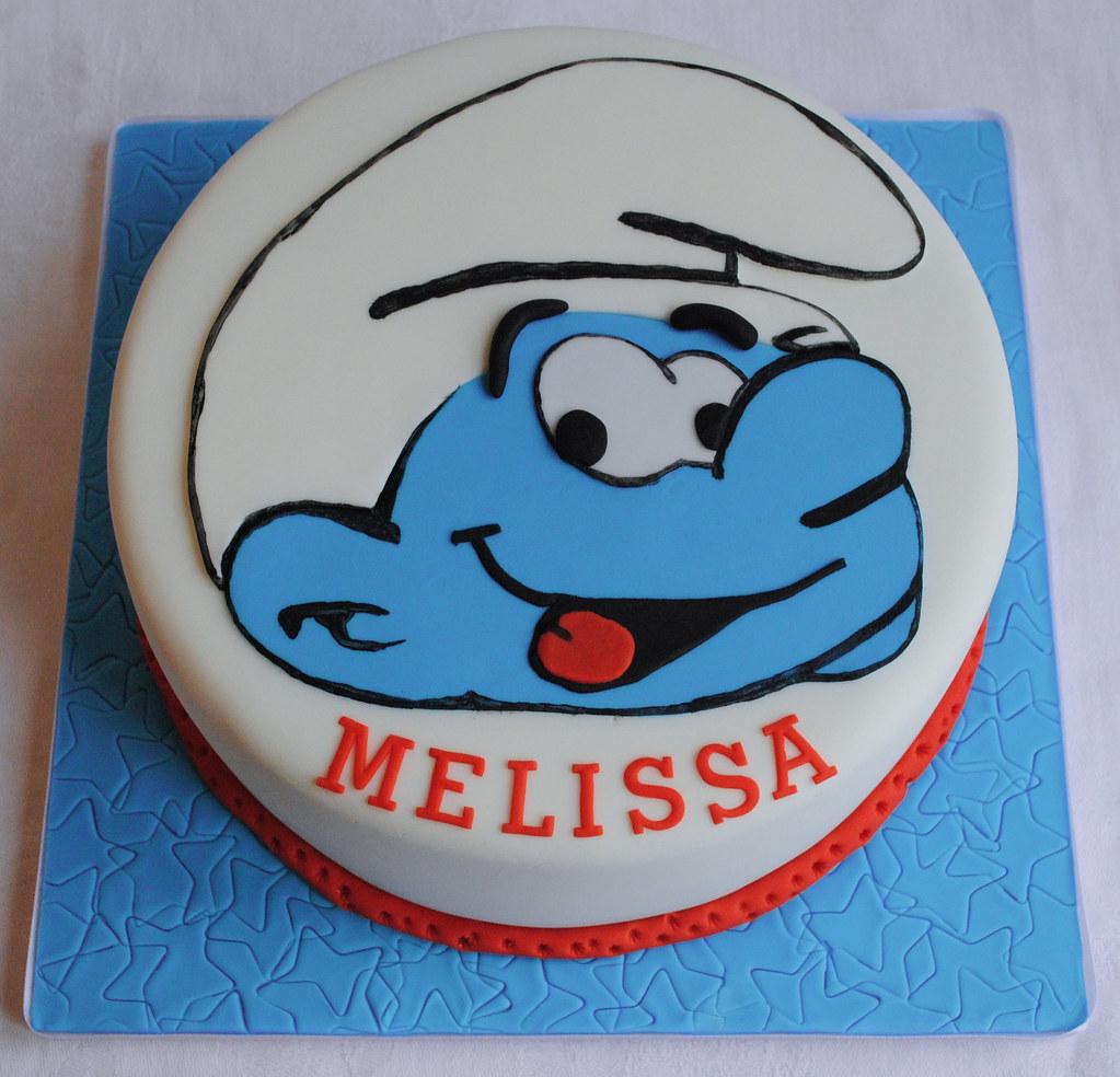 Smurf Birthday Cake Thecustomcakeshop Facebo Flickr