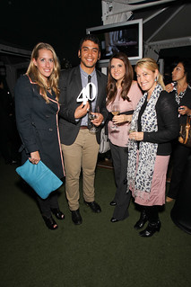 Kathryn Romeyn, deputy editor of LA Confidential (far left), with friends at Jordan Vineyard & Winery's 40th Anniversary, held on The London Hotel rooftop in West Hollywood, California, USA on Monday, April 23, 2012 | by jordanwinery.com