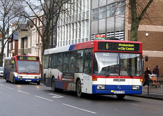 TWM 1672 T672FOB Mercedes Benz O405N & 296 T296UOX Optare Solo | by chrisbell50000
