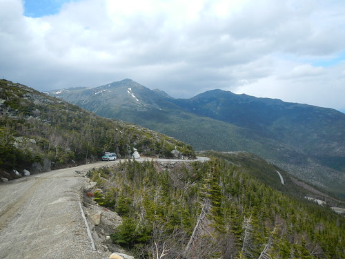 Looking down the 5 mile with Adams and Madison 4/25 | by Mt.Washington Auto Road