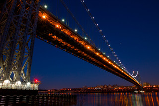 Patriotic Lights on the George Washington Bridge | by SunnyDazzled