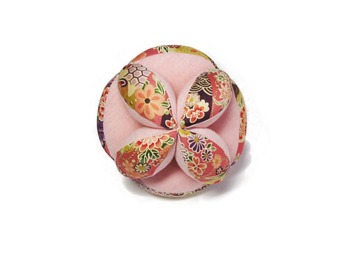 Baby Puzzle Ball - Pink Flowers - | by Handmade by funny Rabbit