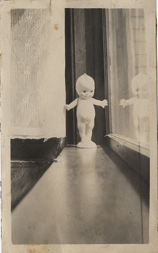A Kewpie on the Window Sill - Small Vernacular Photograph | by Photo_History - Here but not Happy