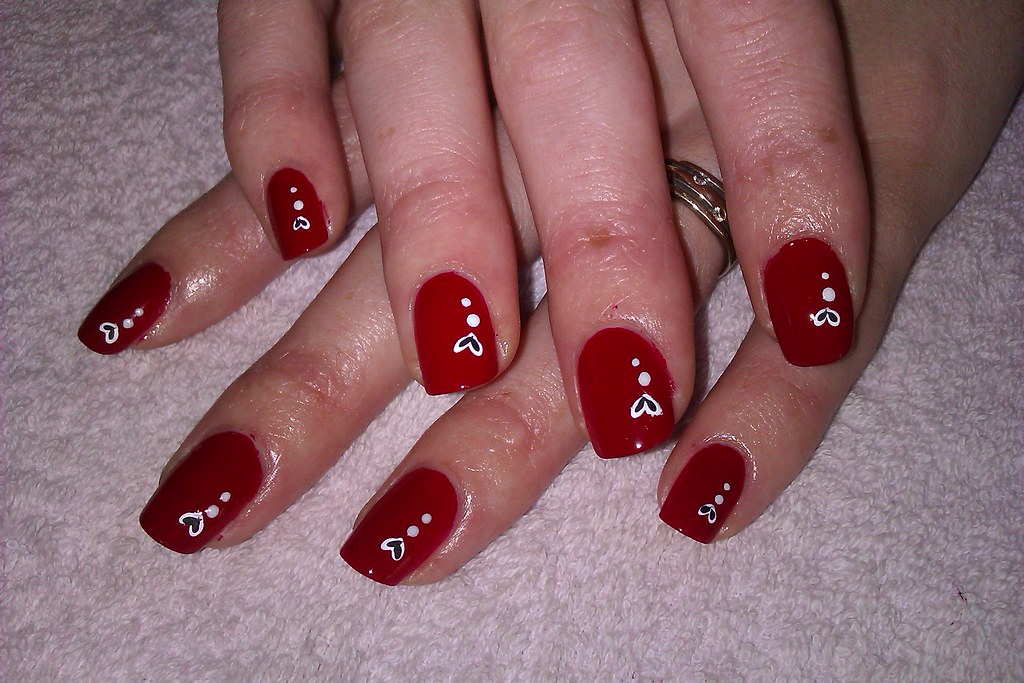 diynailartdesigns 4 simple and easy nail art designs red nail ideas for beginners by diynailartdesigns