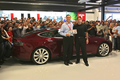Taking delivery of the first Model S | by jurvetson