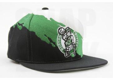 ... Celtics Snapback for Sale Hat Mitchell Ness Paintbrush Boston NBA Cap Green  Black  5b190a9f761f